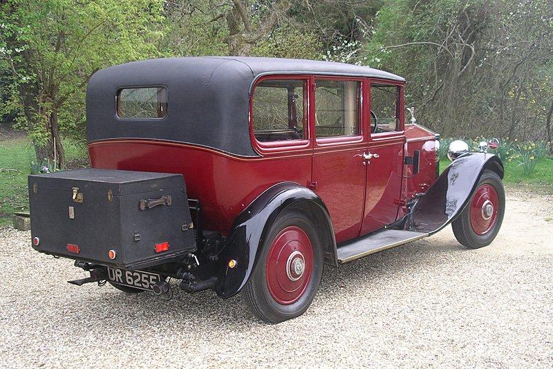 1930 Rolls Royce limousine rear